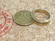 Ringe - Ring,aus 20Pfennig(DDR),innen 16-23mm erhältlich - ein Designerstück von schmuck-checker bei DaWanda