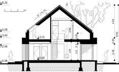 Modny III - dom parterowy z poddaszem użytkowym i garażem   doomo Barn House Plans, Architect House, Prefab Homes, Next At Home, Garage, Floor Plans, Construction, House Design, How To Plan
