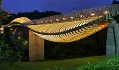 Henderson Wave Bridge, el puente peatonal en forma de serpiente de Singapur