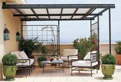 Resultado de imagen para techos para patios pequeños
