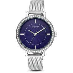 Nine West Mim Bracelet Watch ($89) ❤ liked on Polyvore featuring jewelry, watches, metallic jewelry, watch bracelet, bracelet watch, nine west watches and nine west jewelry