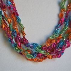 1/2 PRICE SALE  Beach Party - Crocheted Necklace
