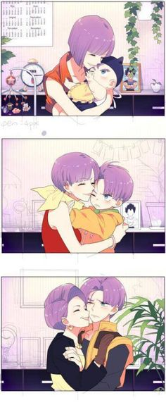 [Dragon Ball Z] Bulma & Trunks Dragon Ball Gt, Dragon Ball Z Shirt, Bulma Y Trunks, Manga Anime, Couples Anime, Anime Family, Fan Art, Noragami, Anime Shows