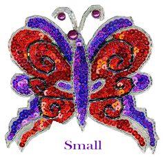 beaded butterfly | Asst'd Butterflies Beaded & Sequin Applique