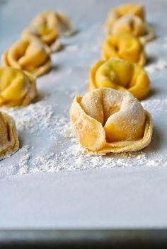 Homemade cheese tortellini