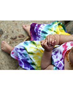 A little love bug and messy me tie-dye toddler dress #nature #girl