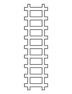 Train track pattern. Use the printable outline for crafts, creating stencils, scrapbooking, and more. Free PDF template to download and print at http://patternuniverse.com/download/train-track-pattern/