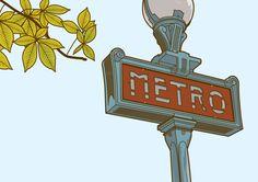 illustration of Paris metropolitan