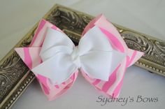 Hair Clip  Boutique hair bow hair clip by SydneysBows on Etsy, $3.99