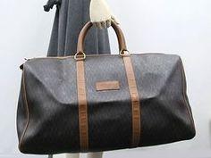 Christian Dior Boston Bag PVC/Leather Dark Gray/Brown (BF108221)