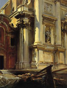 laclefdescoeurs:  Corner of the Church of St. Stae, Venice, 1913, John Singer Sargent