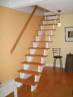 5 Energetic Cool Tricks: Walk Up Attic Renovation attic staircase awesome.Attic Office Industrial attic door in bedroom. Narrow Staircase, Attic Staircase, Loft Stairs, House Stairs, Attic Apartment, Attic Rooms, Attic Spaces, Attic Bathroom, Attic Playroom