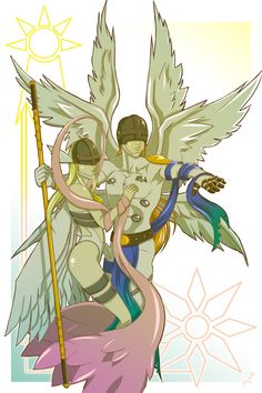Angewomon and Angemon