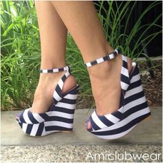 Fashionable PU Ankle Strap Wedge Sandals | Shoe game | Pinterest ...