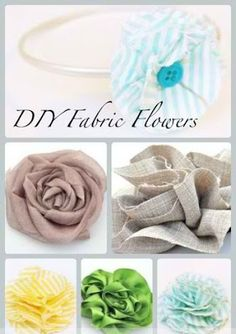 DIY Fabric Flowers ~~ Love the ruffle and rosette on this one