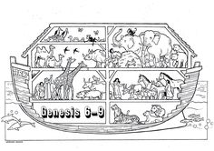 Free Noah S Ark Coloring Pages Download Printable Image About Noah