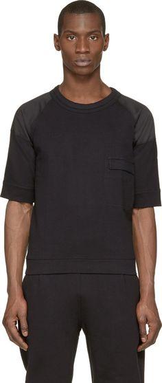 Lemaire Black Paneled Raglan Shirt