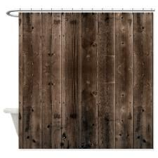 Rustic Wood Shower Curtain For