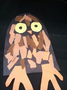 Making a Torn Paper Owl – 'Whooo' Can Benefit -  Pinned by @PediaStaff – Please Visit http://ht.ly/63sNt for all our pediatric therapy pins