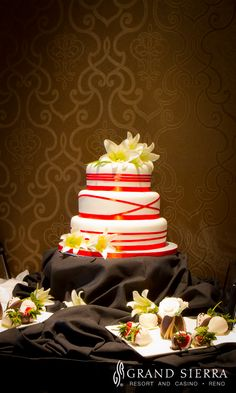Wedding cake made by Catering Chefs at Grand Sierra Resort in Reno, Nevada! http://gsr.ms/a/wedding