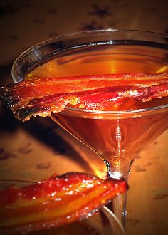 Candied Bacon Martini.