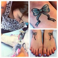 so... i heard getting a tattoo on your foot hurts quite a lot...but still desiring to get mine...these are cute bows