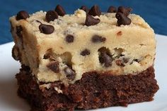Chocolate chip Cookie Dough Brownies Oh Yaaaaaaaa