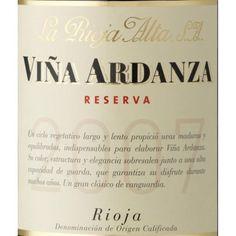 Viña Artdanza, un vino de reserva elaborado por las Bodegas La Rioja Alta, con denominación de origen La Rioja, un vino excelente.