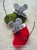 Link to a store, not to the Stocking mice. Link to a store, not to the Stocking mice. Felt Christmas Decorations, Christmas Ornaments To Make, Christmas Sewing, Felt Ornaments, Christmas Projects, Handmade Christmas, Holiday Crafts, Christmas Crafts, Christmas Ideas