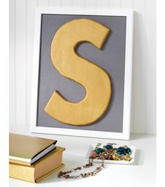 Every home needs a monogram  and metallic wall art is all the rage right now! | Home Decor