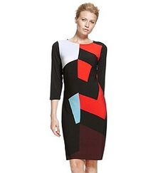 M&S Colour Block Tunic Dress UK 46 Geometric Pattern Stretch Black Colour Block, Color Blocking, Dresses Uk, Dresses For Work, Christmas Party Wear, Maxi Styles, Shirt Style, Latest Trends, Tunic