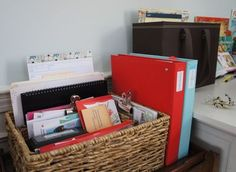 File crate update & Planner journal - NOTE: this is probably my favorite system. With my new method of bill paying, I think I can do much better at controlling the paper clutter.