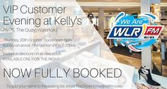 Our VIP night at Kelly's The Quay is now fully booked. If you missed out on getting a ticket there is a waiting list - check out wlrfm.com for full details on how to add your name to it. If you applied for tickets before midday today and confirmed your subscription check your emails we've been in touch. See you Thursday!  #fashion #aw16 #theshoesuite #kellysvip #fashionshow #styleworkshop #hairtutorial #makeupdemo #vipnight