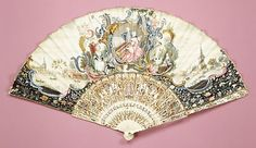 Fan  Date: 18th century Culture: German Medium: Paper, ivory, mother-of-pearl, paint, gilt, glass Dimensions: 20 1/2 x 11 1/4 in. (52.1 x 28.6 cm)