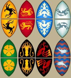 Game if Thrones Heraldic Banner Cake Toppers - westeros flags printout to cut & fold over toothpicks & hang from bamboo skewers for cakes or cupcakes Game Of Thrones Halloween, Game Of Thrones Birthday, Game Of Thrones Theme, Fiesta Games, Medieval Party, Got Party, Game Of Trones, Dragon Party, Party Entertainment