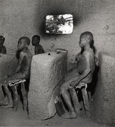 Classe du Dahomey - Photographie de Dominique Darbois - Tirage argentique vintage - www.photo-memory.eu