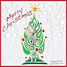 Merry Christmas.  #markerpenart #markerart #illustrator #illustration #kenya #nairobi #zenart #vector #vectorillustration #design #print #pattern #gigglingbob #rooker #Adobe