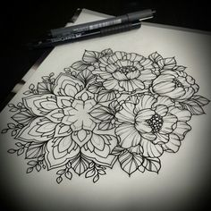 In progress...individual design.. #sunrisetattooworkshop #moscow #mandala #mangust_ #peony #peonytattoo