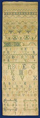 N e e d l e p r i n t: Judith Hayle Sampler For Private Sale - Rebekah Readdin 1691