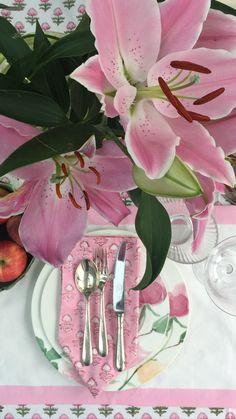 Printed Napkins, Napkins Set, Pink Flowers, Table Decorations, Prints, Home Decor, Decoration Home, Room Decor, Home Interior Design