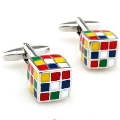 1 Pair Men s Stainless Steel Cufflink Rubik Cube Design Dress Shirt Cuff Links | eBay