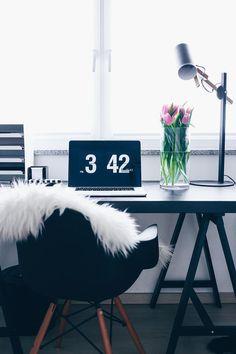 fashion blogger home office, stylisches home office, büro für