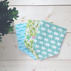 Baby bandana bib   set of three by rubyandjoy on Etsy, £13.50