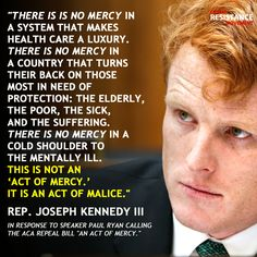 Thank you Congressman Joe Kennedy III for standing up for us!