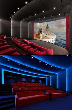 This is a rendering of the first IMAX in-home theater, widely reported to belong to Family Guy creator Seth MacFarlane. (IMAX could not confirm this.) Deign by Theo Kalomirakis.