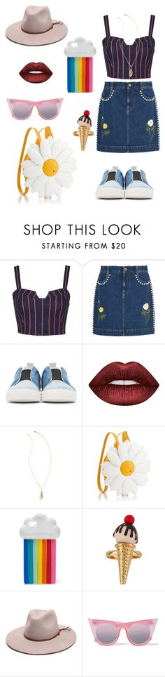 """""""#5"""" by kekabt on Polyvore featuring moda, 3x1, STELLA McCARTNEY, Pierre Hardy, Lime Crime, Lilly Pulitzer, Gottex y Le Specs"""
