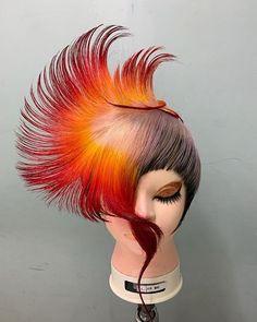 YoshikiさんはInstagramを利用しています:「五輪・全国予選 まだまだ #フィニッシング #カラーカット #カラー #マニパニ #cut #red #技能五輪 #美容学生 #美容学生と繋がりたい #いいね返し #おかともきからいいねがほしい」 Styrofoam Head, Dreads Girl, Hair Reference, Hair Comb, Hair Designs, Floral Arrangements, Wigs, Hair Beauty, Hairstyle