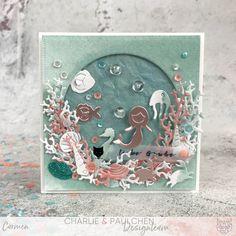 #charlieundpaulchen #herzepuenktchen #underthesea #cardmakinginspiration Sisal, Kit, Dose, Under The Sea, Paper, Confetti, Die Cutting, Card Stock, Watercolor