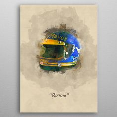 Ronnie Peterson's Helmet by Abraham Szomor | metal posters - Displate