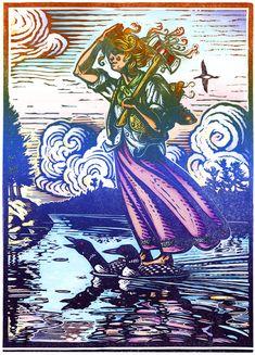 The Trapper's Daughter Crosses the Lake © Rick Allen